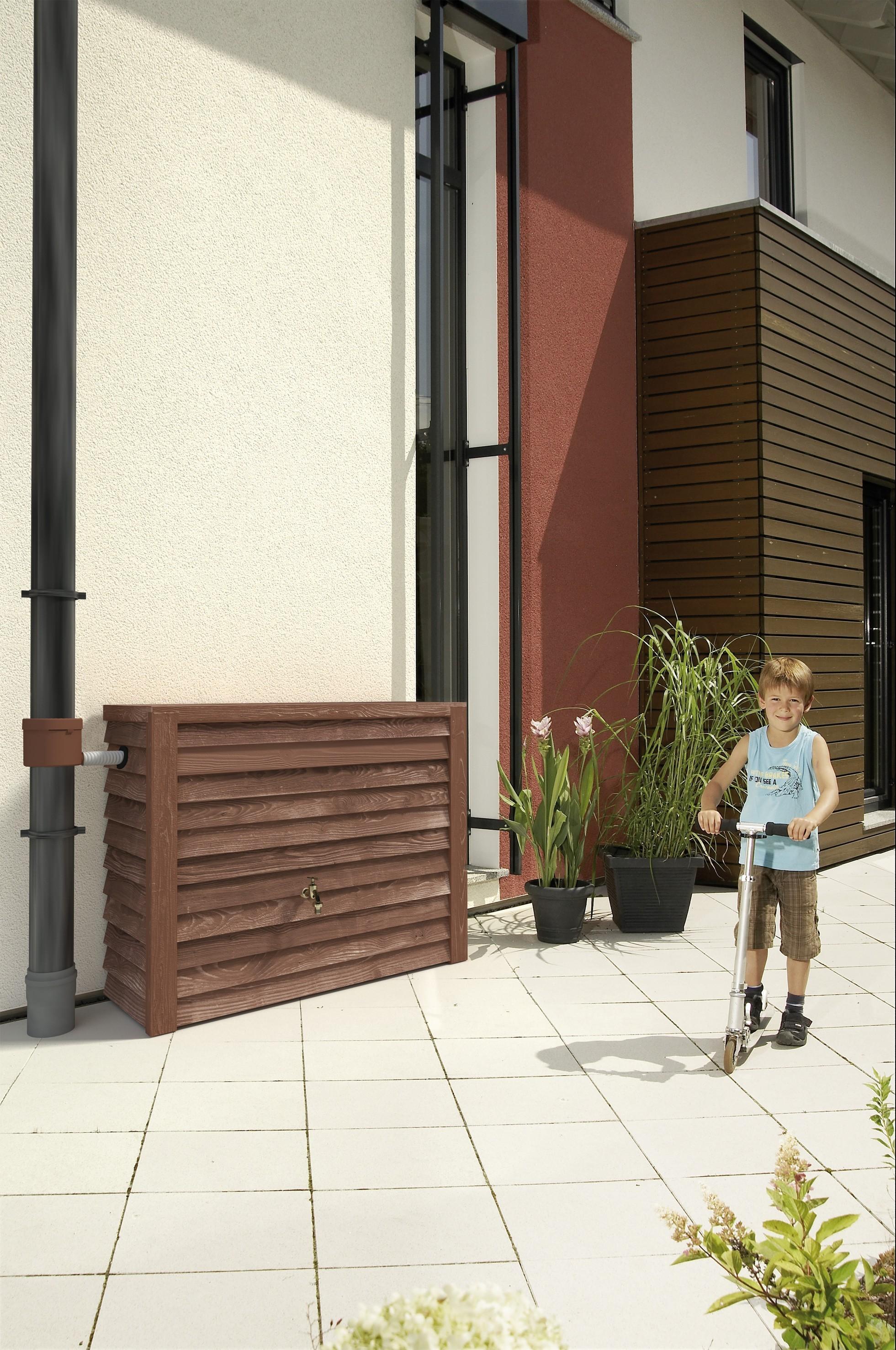 regenwassertank wandtank woody 350l darkwood graf 212200. Black Bedroom Furniture Sets. Home Design Ideas