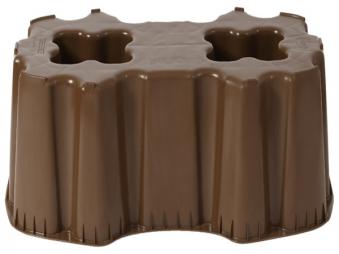 Sockel / Unterstand für Regentonne Sahara 520 L eckig braun Graf Bild 1