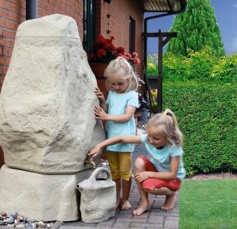 Sockel zu Regentonne GreenLife Hinkelstein Höhe 30 cm sand Bild 2