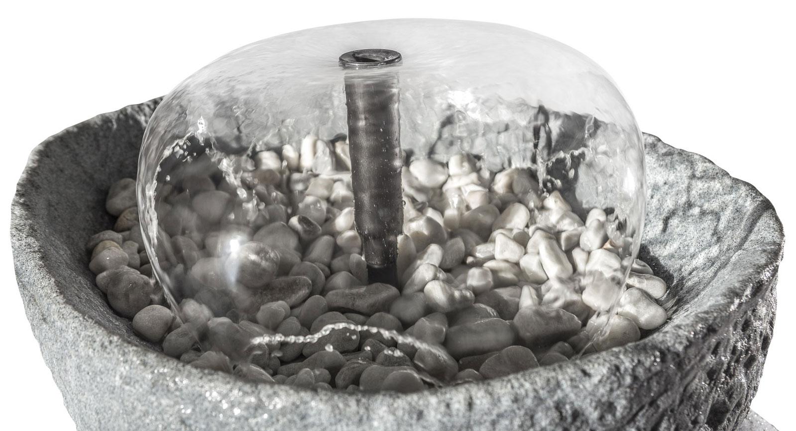 Springbrunnenset für Regentonne GreenLife Hinkelstein granitrot Bild 2