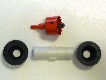 Verbindungs-Set für oberirdische Behälter 25mm Länge 9,5cm 4Rain Bild 1