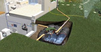 Flach- Erdtank Platin Haus Eco-Plus begehbar 3.000L Graf 390110 Bild 1
