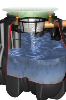 Platin Ausbaupaket 2 DN100 Regenwassertank Platin GRAF 342026 Bild 1