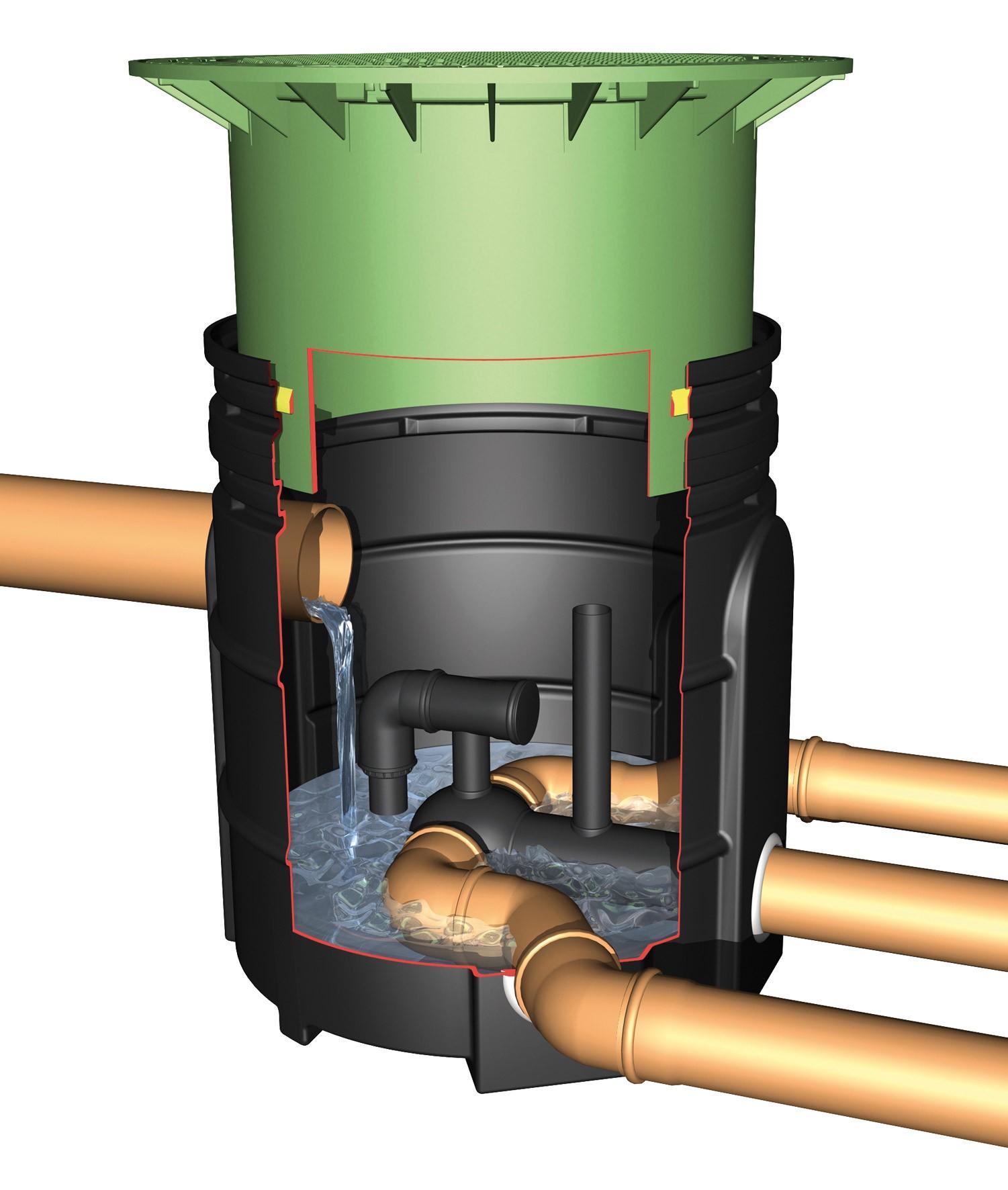 Teleskop-Domschacht Mini mit PE-Deckel begehbar Graf 371010