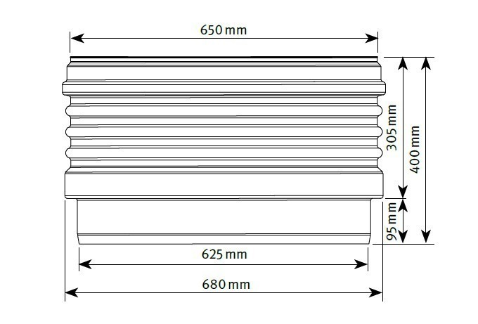 Zwischenstück Verlängerung für Teleskop-Domschacht 600 Graf 371003 Bild 2