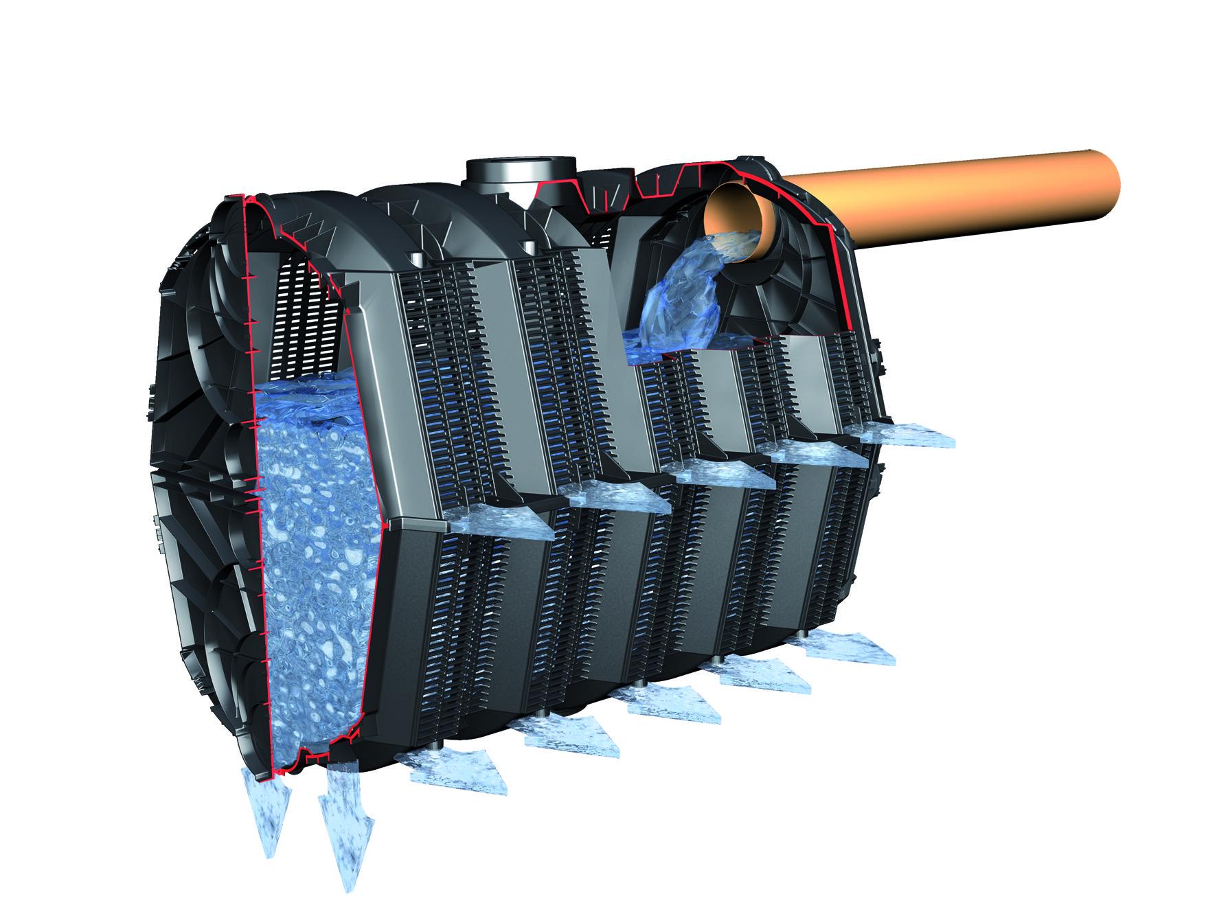 regenwasser versickerung sicker tunnel twin pkw 600l graf 410130 bei. Black Bedroom Furniture Sets. Home Design Ideas