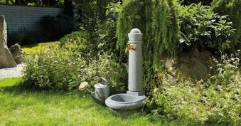 B-Ware Wasserzapfsäule / Steinbrunnen Venezia Steinoptik granite GRAF Bild 2