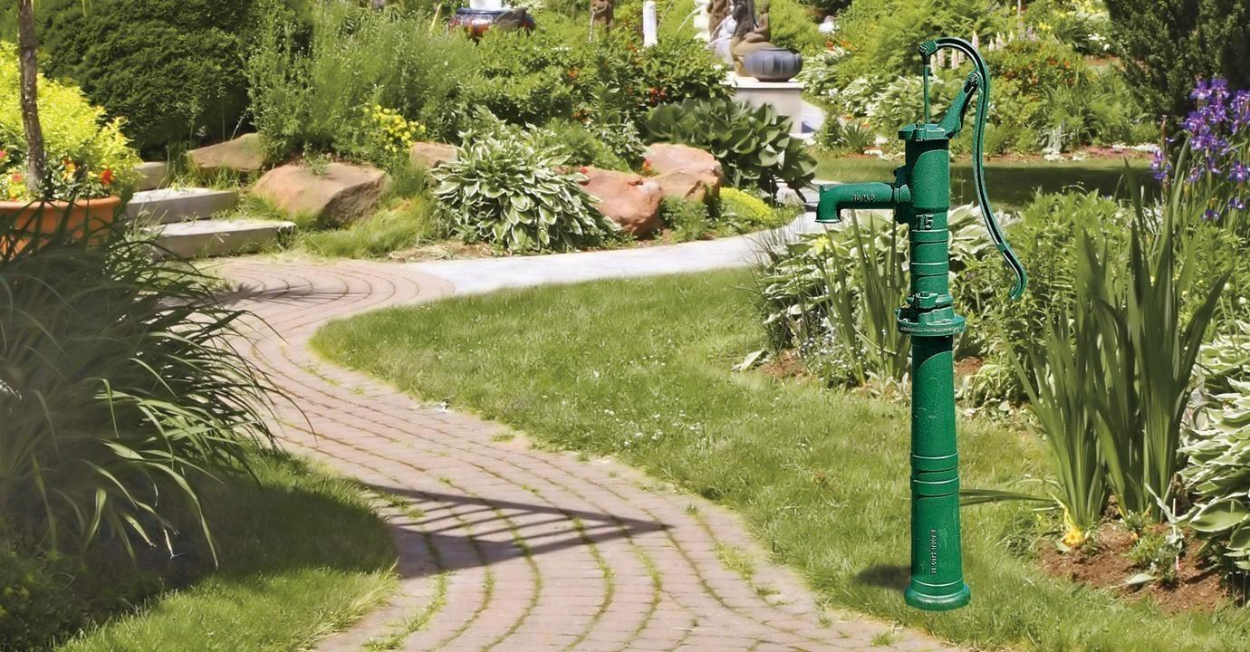 Handschwengelpumpe mit Ständer Pumpenset grün GRAF 356010 Bild 2