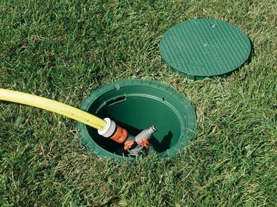 Deckel für Graf Garantia Wasseranschlussbox grün extern