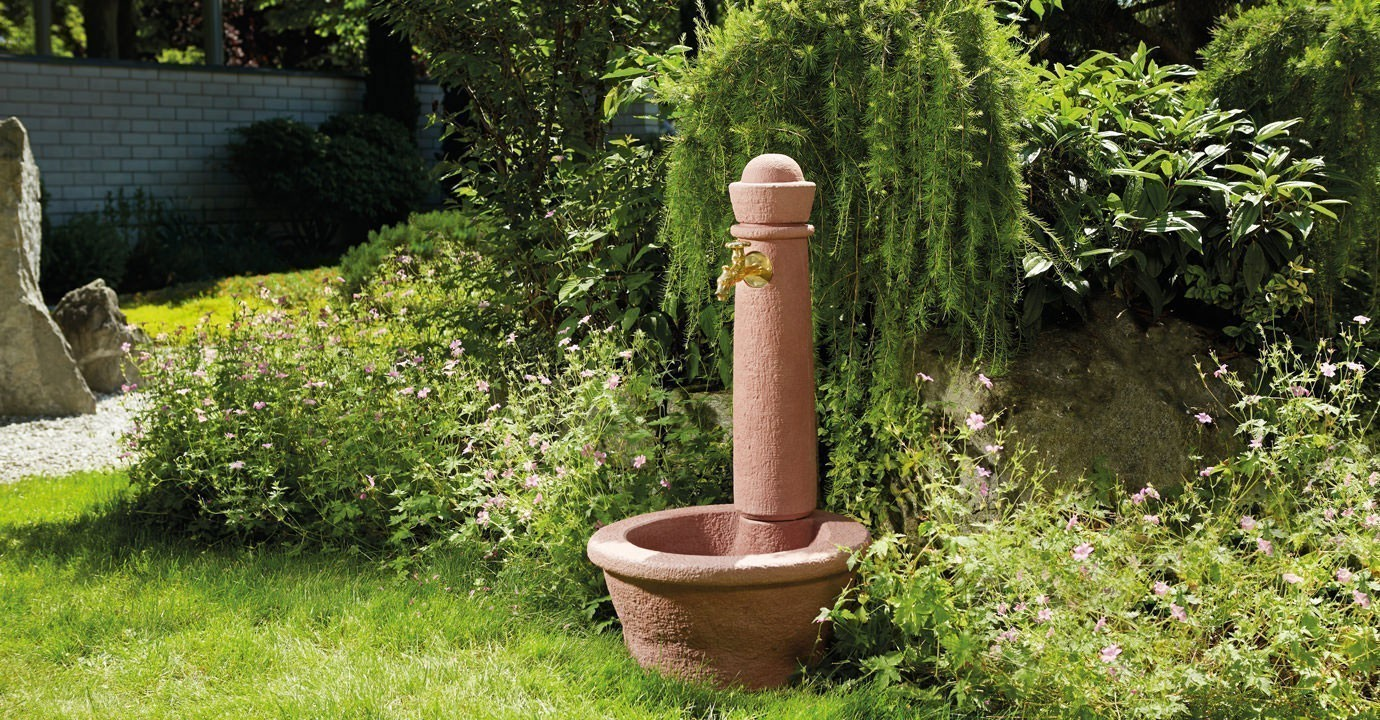Wasserzapfsäule / Steinbrunnen Roma in Steinoptik redstone Graf 356103 Bild 2