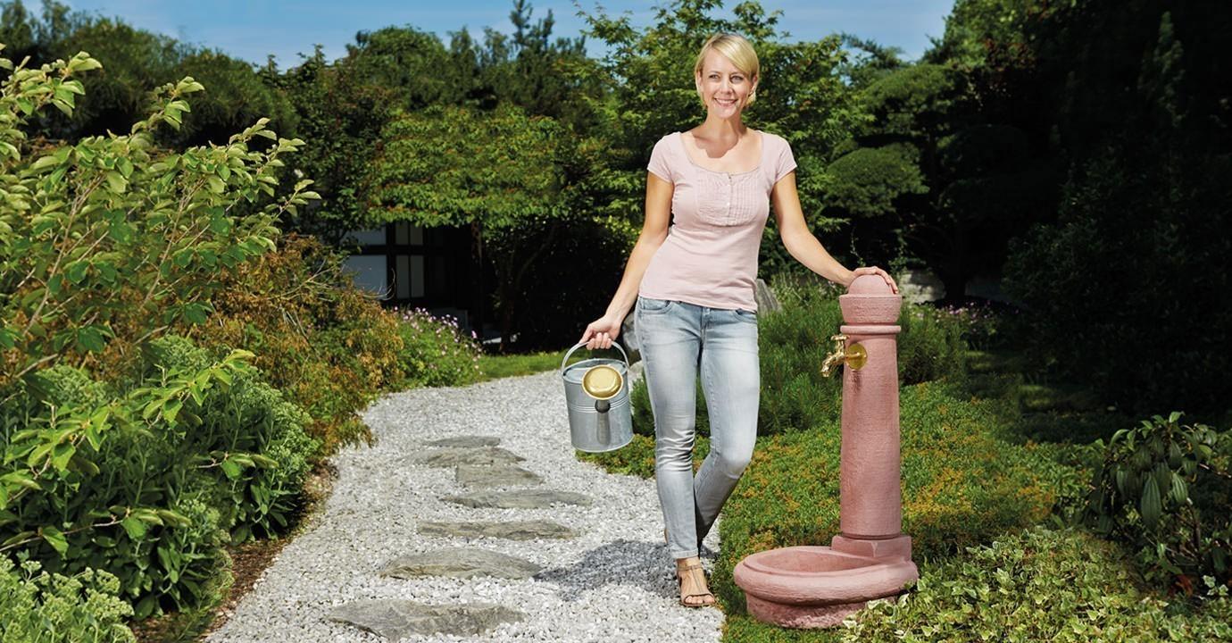 Wasserzapfsäule / Steinbrunnen Venezia Steinoptik redstone GRAF 356102 Bild 2