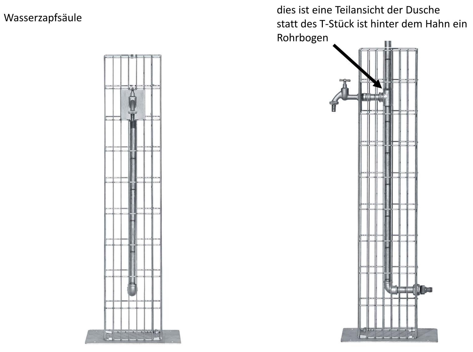 Wasserzapfsäule / Steinkorb Gabione bellissa 16x16x90cm Bild 3